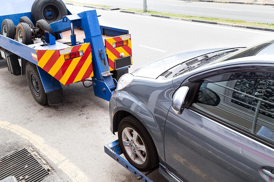 towing of damage car