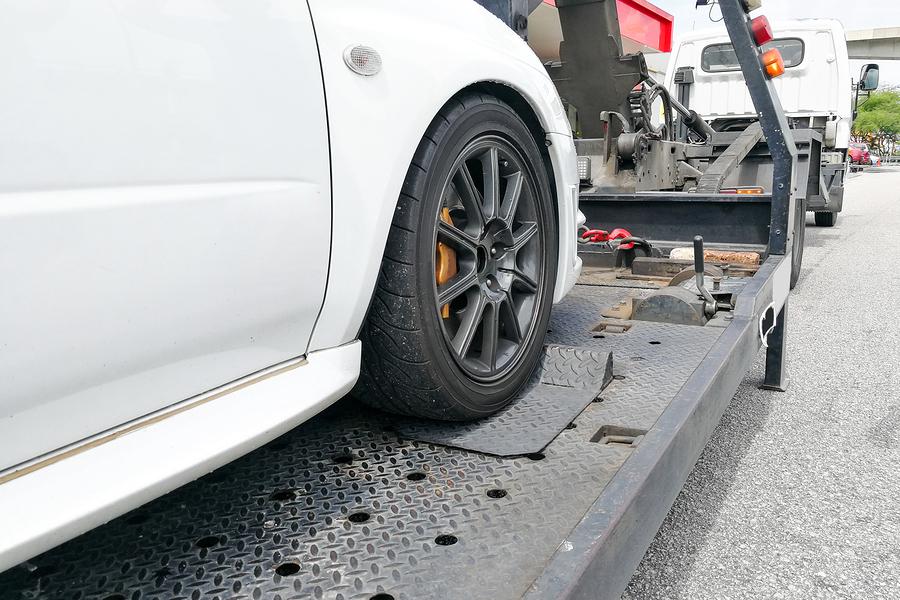 towing of broken car