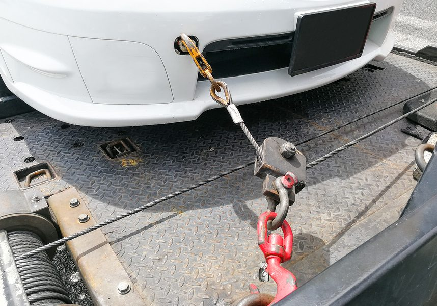 long distance of car towing